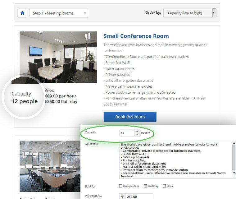Meeting room capacity