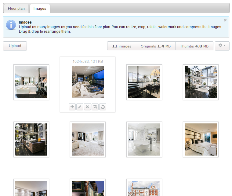 Interactive Floor Plan Advanced Image Gallery Controls