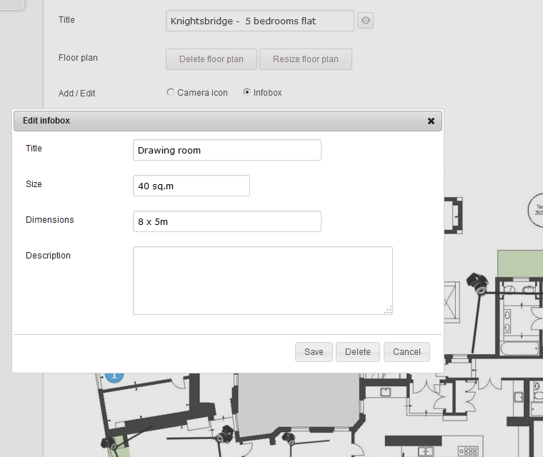 Interactive Floor Plan Manage The Following Infobox Attributes