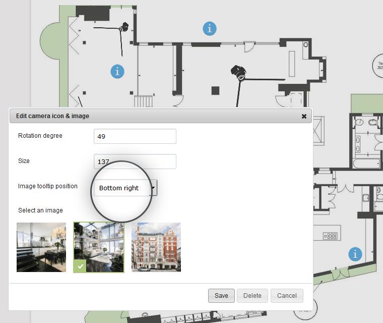 Interactive Floor Plan Set Image Tooltip Position