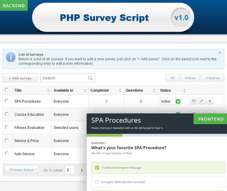 Countless online surveys