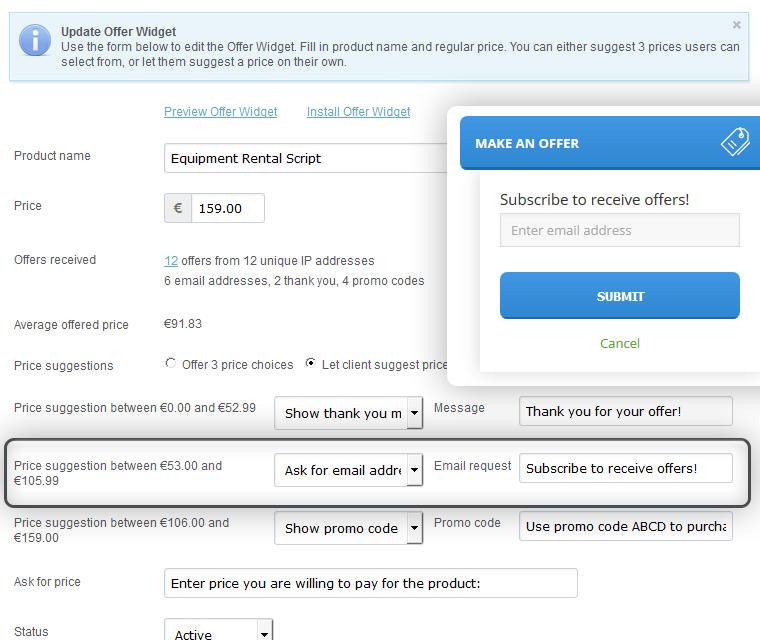Make An Offer Widget Case 2