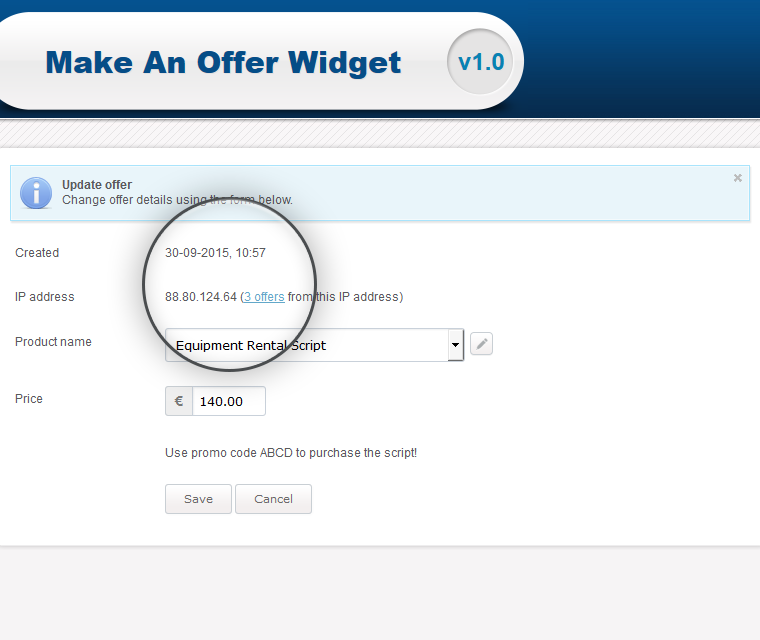 Make An Offer Widget Check The Exact Date And Time