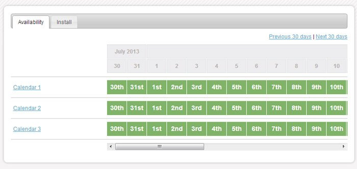 Multiple Online Booking Calendars