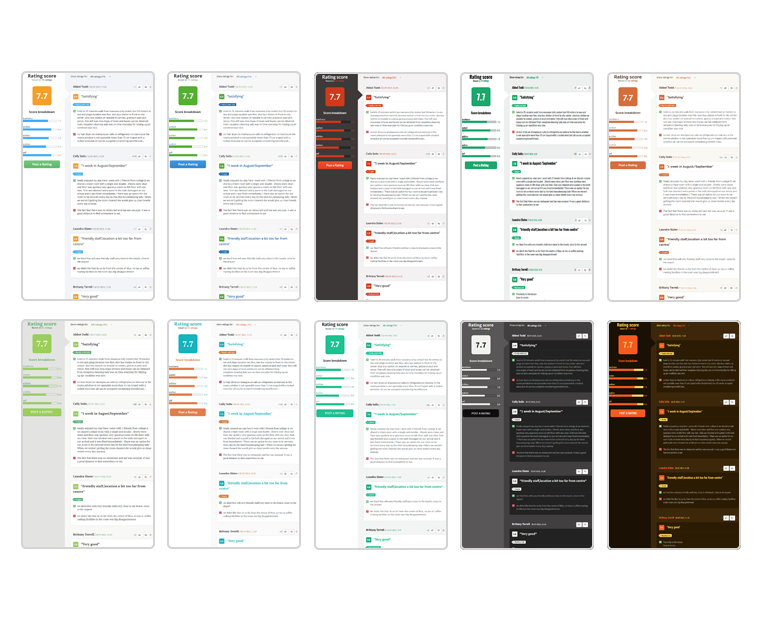 Php Review Script 10 Different Color Themes