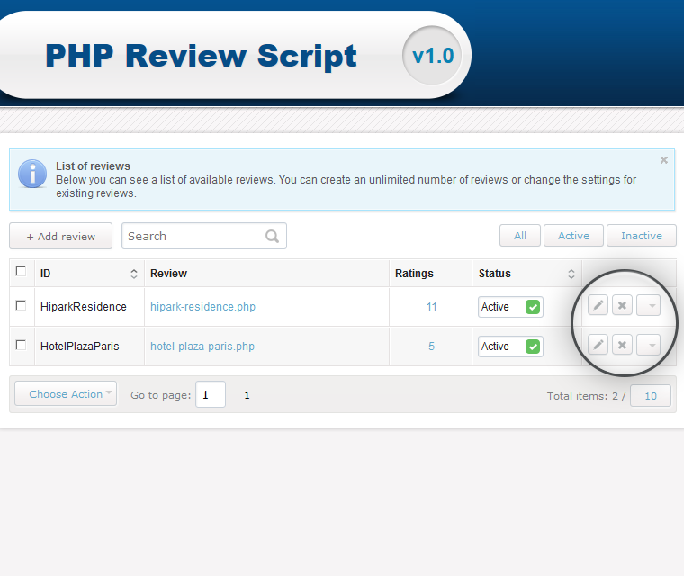 Php Review Script Add Edit And Enable Disable Reviewers