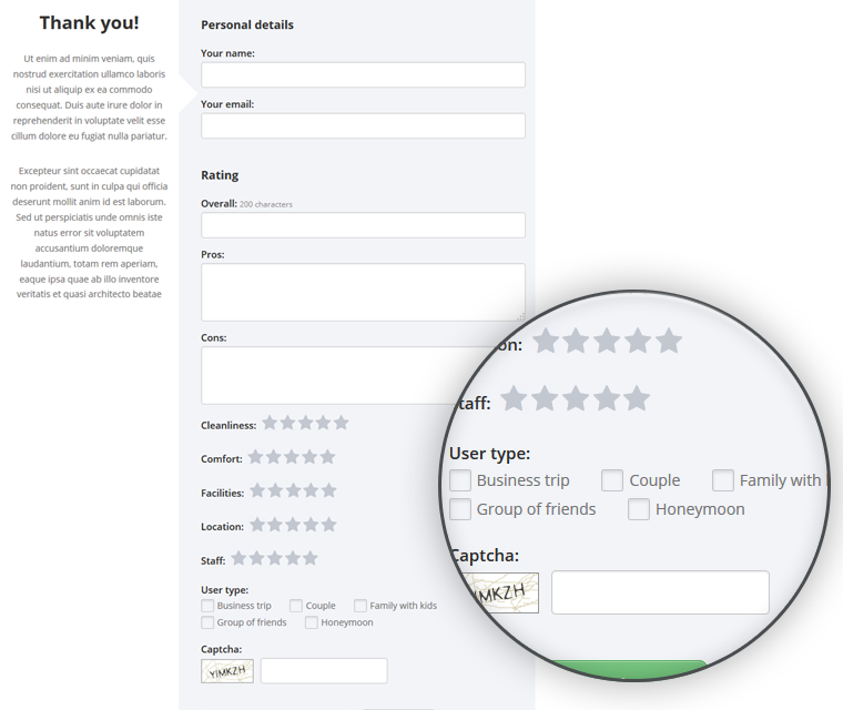 Php Review Script Customers Can Select User Type