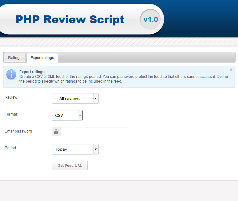 Php Review Script Export Ratings In Different Formats