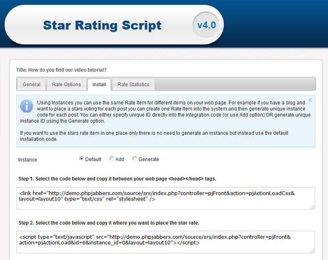 Star Rating Script | PHP Rating Script | Features