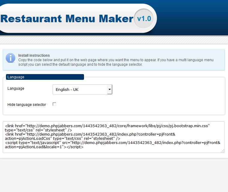 Restaurant Menu Maker Integrate The Online Menu Maker Just Copy Paste