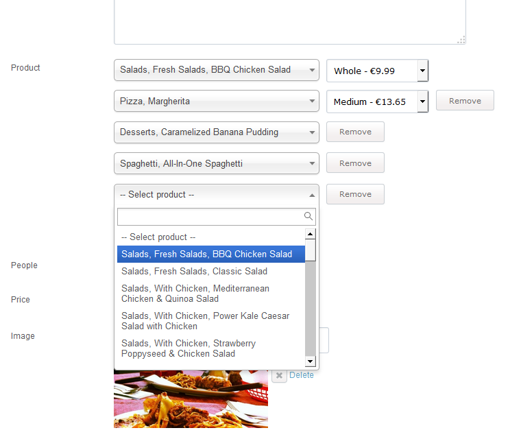 Restaurant Menu Maker Select The Products You Want To Include