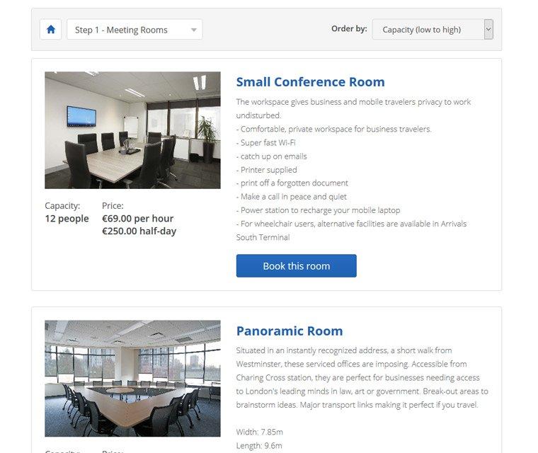 Meeting room profiles