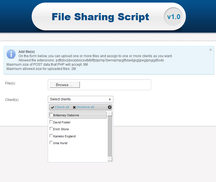 Share files with many users
