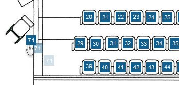 Ticket reservation system seat selections
