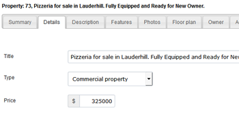 Manage property classified ads