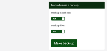 Database back up feature