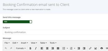 Set email notifications