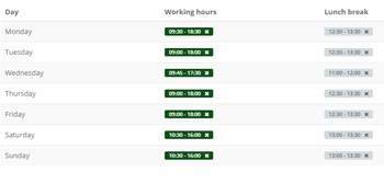 Manage work schedule