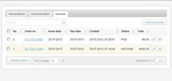 Availability Booking Calendar Invoicing