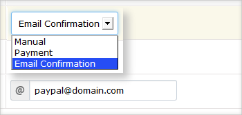Membership confirmation options