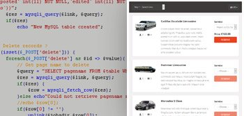 Limo booking script source code
