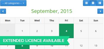 Extende Developer PHP Event Calendar