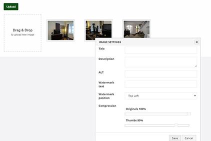 Advanced gallery controls