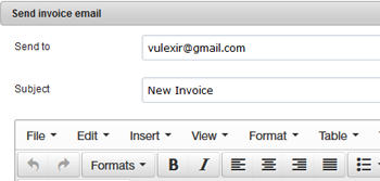 Send Invoice Emails