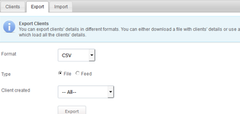 Import And Export Client Data