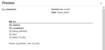 Member login invoicing feature