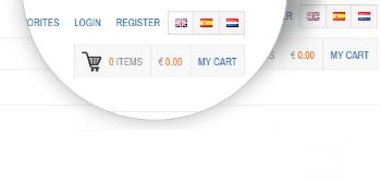 Multi-language online shopping cart