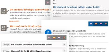 news widget w/t multiple layouts