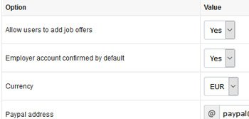 Paid job classified ads