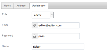 Permission based access for editors