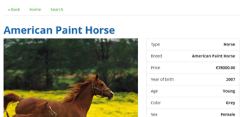 Pet Classified Script with Pate Details Page