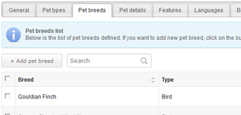 Pet Listing Script with Pet Types and Breeds Module