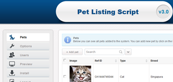 Pets Classified Script with Easy to Use Admin Panel