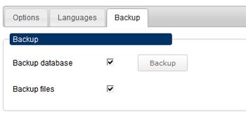 news database backup