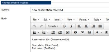 Reservation calendar notifications