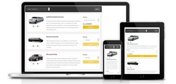 Limo reservation system with responsive UI
