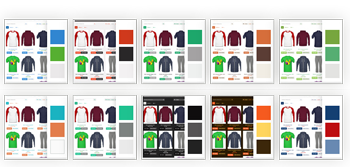 Online shopping cart layouts