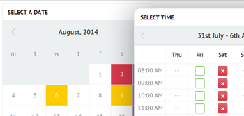 Time Slots Booking Calendar Layouts
