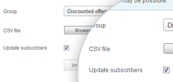 Smart mailing list update