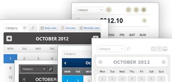 5 Web Calendar Themes