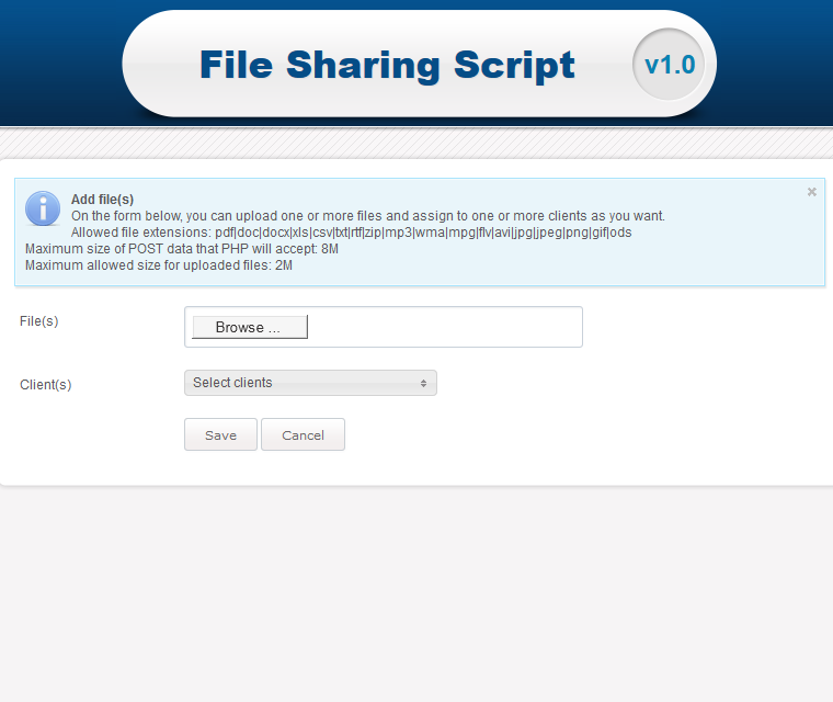 File Sharing Script | File Sharing Manager | Features