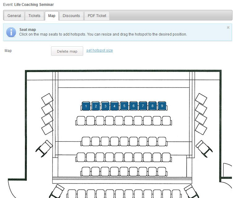 Upload seat map