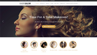 Create Your Beauty Salon Site!