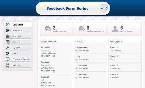 Feedback Form Script