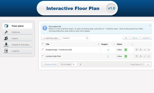 Interactive floor plan interactive map software phpjabbers for Interactive floor plan software