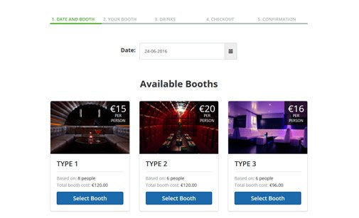 Night Club Booking Software Frontend